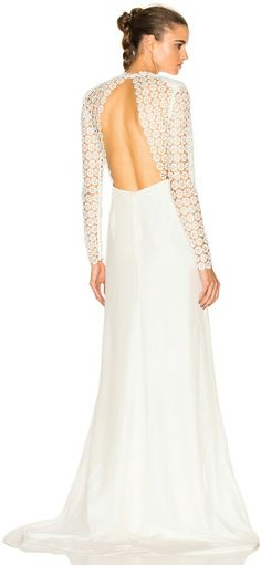 c6abb7c1a9a1 Eva Backless Silk Wedding Dress by self-portrait. Self-Portrait's Eva  Backless Silk Wedding Dress transcends time with a traditional A-line cut  juxtaposed ...
