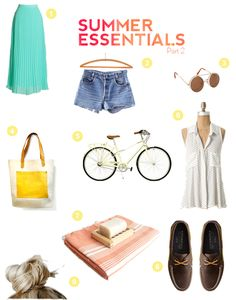 summer essentials wish list items