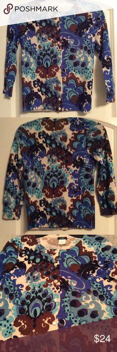 J. Crew Merino Wool Cardigan. XS Beautiful colors! XS Wool Cardigan from J. Crew! Perfect condition! J. Crew Sweaters Cardigans