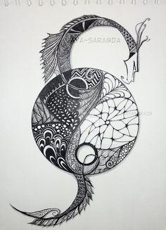 Dragon Yin and Yang by aya-sara on DeviantArt