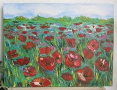Oil painting Drawing oil Flower painting Gift oil painting Painting by paints Picture New gift Field of poppies Landscape Wooden Calendar, Valentines For Mom, Birthday Presents For Her, Wooden Hangers, Painting & Drawing, Gifts For Mom, House Warming, Poppies, Decoupage