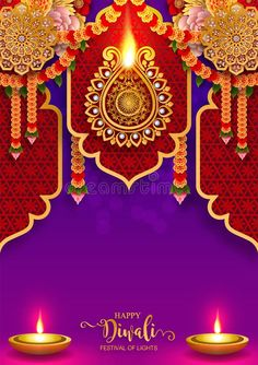 Illustration about Happy Diwali festival card with gold diya patterned and crystals on paper color Background. Illustration of fire, festival, exquisite - 128647180 Wedding Background Images, Wedding Invitation Background, Banner Background Images, Royal Background, Shubh Diwali, Diwali Diya, Diwali Deepavali, Happy Dhanteras Wishes, Diwali Wishes
