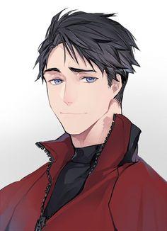 Embedded Handsome Anime Guys, Cute Anime Guys, Anime Boy Zeichnung, Boy Drawing, Yuri, ユーリ!!! On Ice, Anime People, Human Art, Boy Art