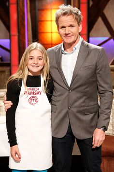 Junior Masterchef, Matilda and Gordon Ramsay Gordon Ramsay Funny, Chef Gordon Ramsay, Matilda Ramsay, Big Chefs, Actors Height, Masterchef Junior, Blue Peter, Terry Crews, Chelsea London