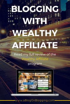 Blogging With Wealthy Affiliate