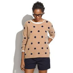 Dotted Crewneck Sweater