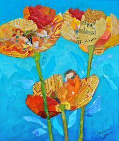 orange poppies - Elizabeth St. Hilaire Nelson