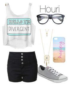 """""""Girls night out"""" by nat-cat-iconic ❤ liked on Polyvore featuring Glamorous, Aéropostale and Converse"""