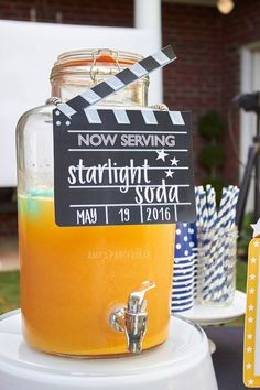 We love this punch idea for a Hollywood Party or an Awards Show party.