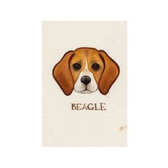 Beagle Dog Original Painting / Watercolor Painting by KateDolamore