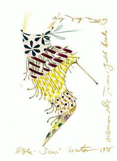 2003 Manolo Blahnik Sketchbook Illustrations