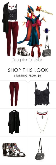 """Disney's Descendants: #4 Daughter Of Jafar"" by unbreakablekatniss ❤ liked on Polyvore featuring Sisley, A.L.C., Charlotte Russe, Giuseppe Zanotti, Alexander Wang and Anaconda"
