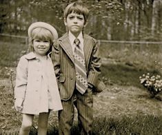 Chris McCandless and his sister as small children. Chris's sister was one of the only people from his family he stayed in touch with through mail and postcards.