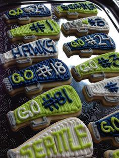Seattle Seahawk Megaphone Sugar Cookies