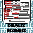 These cards can be used with a rekenrek to represent the doubles strategy...