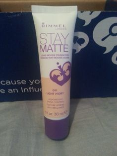 RImmel London Stay Matte Liquid Mousse Foundation Light Ivory received in my #Uni voxbox from Influenster