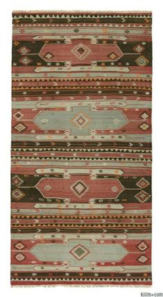 Vintage Sivas Kilim Rug around 60 years old and in very good condition.