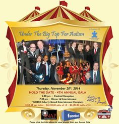 3rd Annual Under The Big Top For Autism Gala - Nov. 21st, 2013