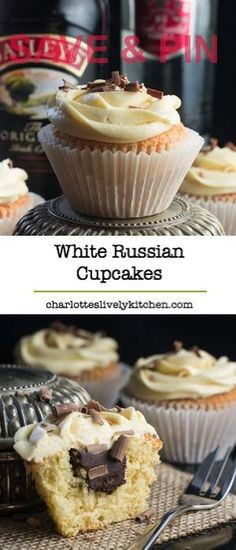 White Russian Cupcakes inspired by the classic cocktail…