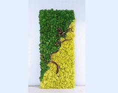 Branch into Green- Original Moss Wall Art Moss Wall Art, Moss Art, Moss Letters, Paper Peonies, Wall Boxes, Botanical Wall Art, Mother Nature, Flower Art, Landscape Design
