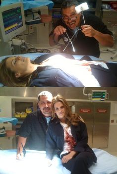 """Behind the scenes of Castle during the filming of the episode """"Rise"""" (after Beckett had been shot)."""