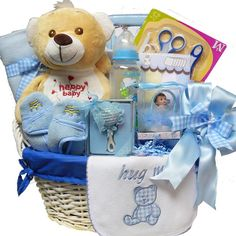 Art of Appreciation Gift Baskets Sweet Baby Special Delivery Gift Basket with Teddy Bear, Boy ** Want to know more, click on the image.