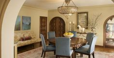 Charming Dining Rooms with Upholstered Chairs ~ Home Decor Journal Interior Design Process, Dining Room Design, Dining Rooms, Front Rooms, Home Look, Upholstered Chairs, Interior Inspiration, Interior Ideas, Room Interior