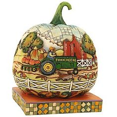 Jim Shore John Deere Traditions Pumpkin Figurine. #JimShore #Statue #Sculpture #Decor #Gift #gosstudio .★ We recommend Gift Shop: http://www.zazzle.com/vintagestylestudio ★