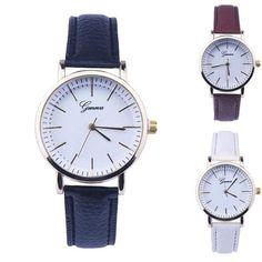 2017 Fashion 1PC New Women Faux   Leather Analog Quartz Wrist Watch