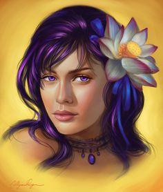 Commission: Lotus by adelenta.deviantart.com