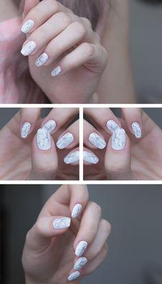 Sandra Holmbom cool marble effect on nails. Marble Nail Art, Halloween Nail Art, Halloween 2014, Types Of Nails, Nail Decorations, Beautiful Nail Art, Nail Stickers, Perfect Nails, White Nails