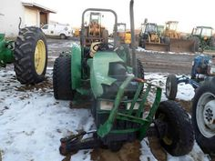 John Deere 5400 tractor salvaged for used parts. This unit is available at All States Ag Parts in Downing, WI. Call 877-530-1010 parts. Unit ID#: EQ-25311. The photo depicts the equipment in the condition it arrived at our salvage yard. Parts shown may or may not still be available. http://www.TractorPartsASAP.com
