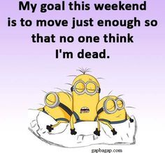 Funny Jokes About Weekend By Minions
