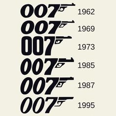 "462 Likes, 8 Comments - The James Bond Fan Page (@thejamesbondfanpage) on Instagram: ""The #007 logo has changed several times throughout the years. Do you have a favorite? #jamesbond…"""