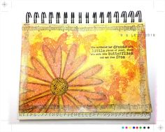 Evening all, hope you've had a good weekend.  Sharing an art journal page, made using a mix of some the new stamps by Leonie Pujol and one of my fav stamps a butterfly from one of my In…