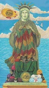 Lady Liberty - Free Knitting & Crochet e-Cards