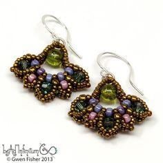 gwenbeads: New Pattern: Iris Drop Earrings