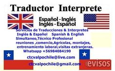 Traductor interprete ingles tecnico profesional todo Chile  We provide ground assistants anywhere  in South Ameri ..  http://vina-del-mar.evisos.cl/traductor-interprete-ingles-tecnico-profesional-todo-chile-id-587807