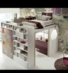 Teen room, storage idea