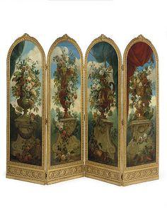 Room Screen, Paneling, Beautiful Furniture, Louis Xvi Style, Folding Screen, Painted Paneling, Tiny House Decor, Painted Furniture, Vintage Furniture