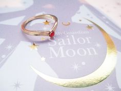 Sailor Moon Tiara Ring by teacupcastle 5.00 USD http://ift.tt/1C1gXeB