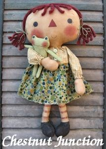 Primitive Annie with frog