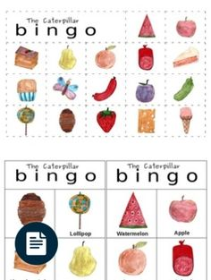 PRINTABLE CATERPILLAR BINGO