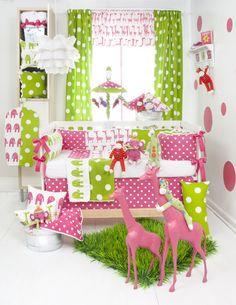 Ellie and Stretch Crib Bedding and Nursery Decor by Glenna Jean