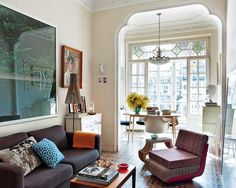 A light-filled home with eclectic style.