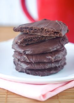 In honor of Girl Scout cookie time, we offer these vegan, gluten-free Thin Mints. We'll take five boxes!