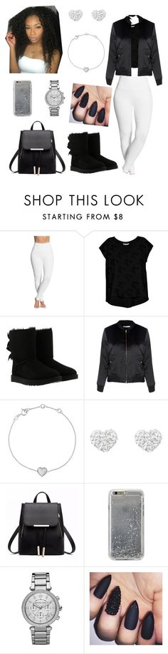 """Untitled #536"" by honeycombs23 ❤ liked on Polyvore featuring Lyssé Leggings, Bobeau, UGG, Glamorous, Links of London, Agent 18 and Michael Kors"