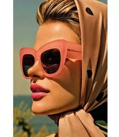 My mom rocked this look often when I was growing up--scarf & sunglasses.