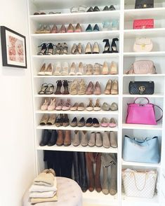 65 the best shoes rack design ideas that are trending today 19 ~ Litledress Source by closet organization Closet Shoe Storage, Diy Shoe Rack, Bedroom Storage, Shoe Racks, Shoe Closet Organization, Organizing Shoes, Shoe Rack In Closet, Shoe Rack Bedroom, Shoe Room