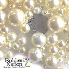 170+ glass pearl beads. 100 grams. 100+pc. Sizes range from 4-14mm. Holes .5mm Lovely, creamy glass pearls in a range of handy sizes. Mix any of these together as earrings, necklace, bracelets and get elegant results! #ecrafty @ecrafty http://www.ecrafty.com/c-595-glass-pearls.aspx?pagenum====popularity=20